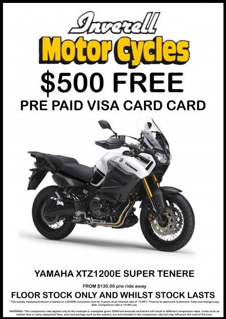 $500 FREE PRE PAID VISA CARD - XTZ1200E